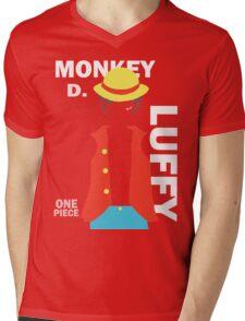 Supernova Monkey D. Luffy Vector Mens V-Neck T-Shirt