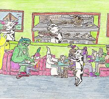 Boring Old Diner Scene by DrewSomervell