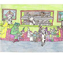Boring Old Diner Scene Photographic Print