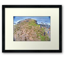 Mythical steeped -Giant's Causeway Framed Print