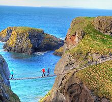 The rock in the road - Carrick-a-Rede by Ferdinand Lucino