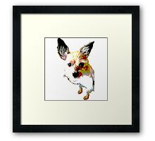 Terrier dog logo Framed Print