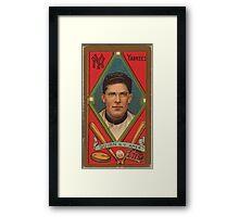 Benjamin K Edwards Collection John Quinn New York Yankees baseball card portrait Framed Print