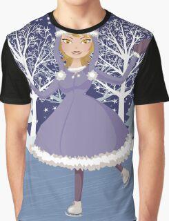 Winter skating girl Graphic T-Shirt