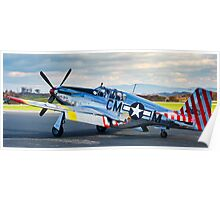 P-51 Mustang Betty Jane Poster