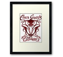 Elven Guards of Mirkwood The Lord of the Rings Framed Print