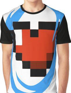 Portal Lover ! Blue Graphic T-Shirt
