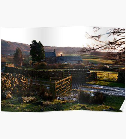 Wasdale Farmhouse in December Poster