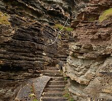 Steps in the Cliff by kalaryder