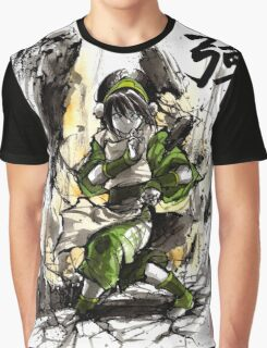 Toph from Avatar with sumi and watercolor Graphic T-Shirt