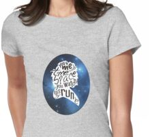 """""""You Watch Us Run"""" (Celestial) Womens Fitted T-Shirt"""