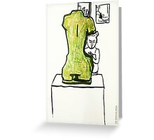 1 person  + 1 sculpture Greeting Card