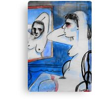 nude with mirror Canvas Print