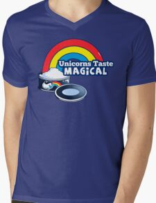 Magically Delicious | Funny Unicorn Shirt Mens V-Neck T-Shirt