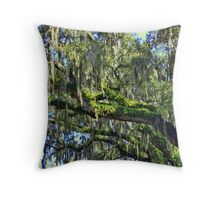 Live Oak Trees With Spanish Moss Throw Pillow