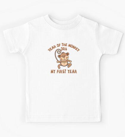 Born 2016 Year Of The Monkey Kids Tee