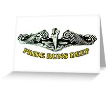 Pride Runs Deep: Submariner Dolphins Greeting Card