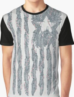 America Feather Flag Graphic T-Shirt