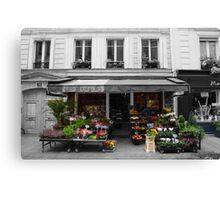 A Parisian Flower Shop Canvas Print