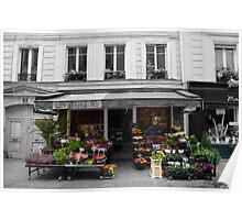 A Parisian Flower Shop Poster