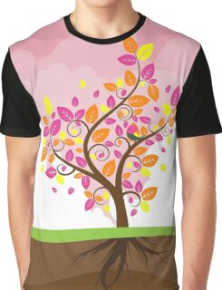 Stylized Autumn Tree 2 Graphic T-Shirt