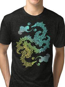 Dragons Blow | Chinese Dragon Yin Yang Tri-blend T-Shirt