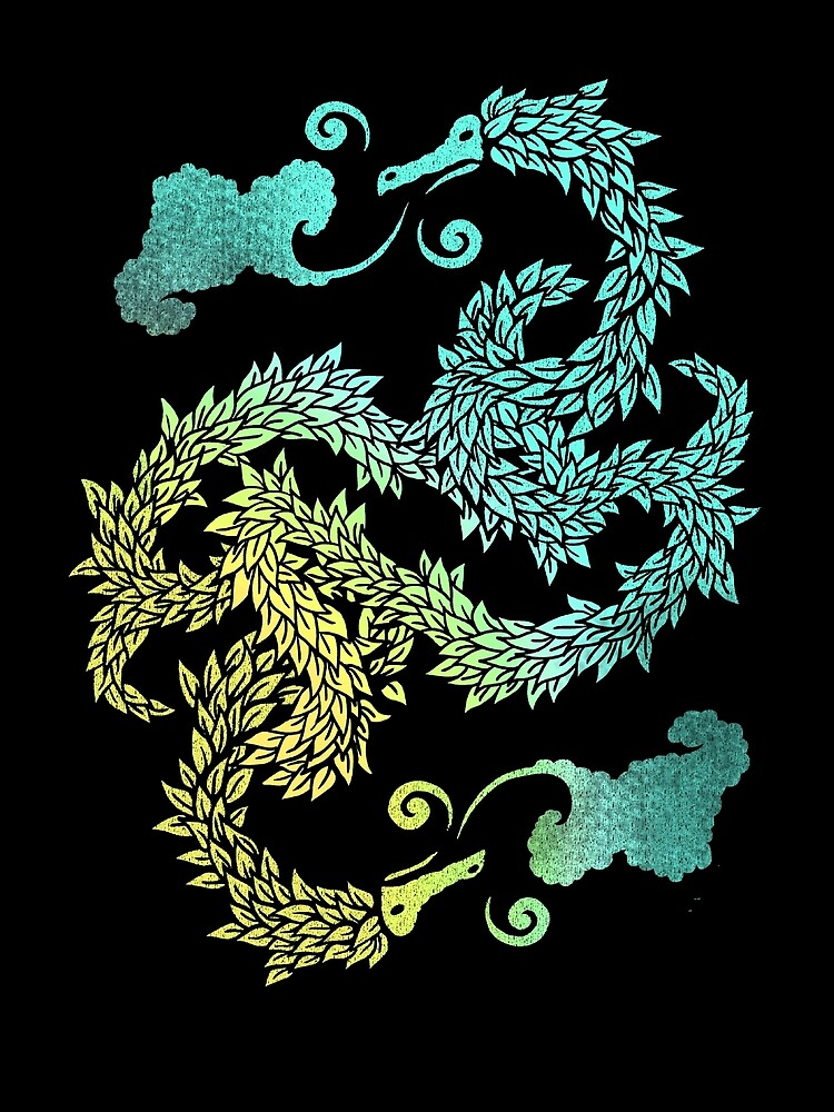 Dragons Blow | Chinese Dragon Yin Yang by BootsBoots