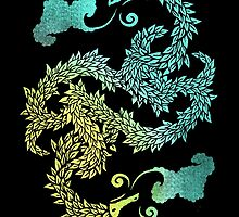 Dragons Blow   Chinese Dragon Yin Yang by BootsBoots