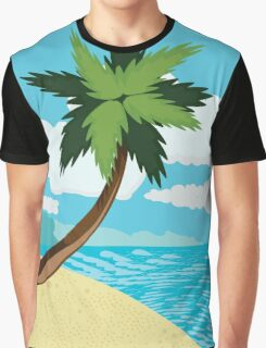 Beach and tropical sea 2 Graphic T-Shirt