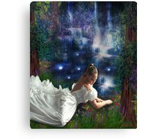 WISHING AT STARLIGHT POND Canvas Print