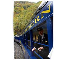 Scenic Train Ride through Lehigh River Gorge Poster