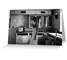 Abandoned Psychiactric Hospital, USA Greeting Card