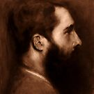 Monet , tonal study after John Singer Sargent's portrait of Monet by Lauren  Rusignola
