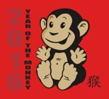 Born 2016 Year Of The Monkey One Piece - Short Sleeve