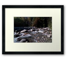 Rushing River Framed Print