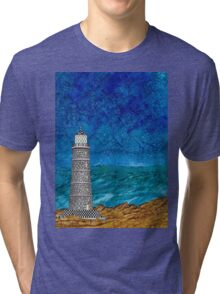 Seascape with Lighthouse Tri-blend T-Shirt