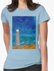 Seascape with Lighthouse Womens Fitted T-Shirt