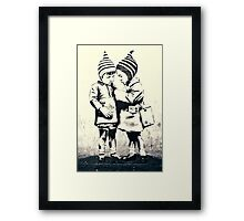 Friendship- street art in Bristol Framed Print