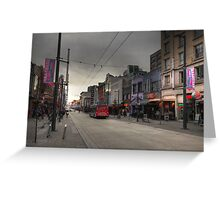 Entertainment street Greeting Card