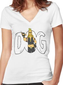 Dog Day Women's Fitted V-Neck T-Shirt