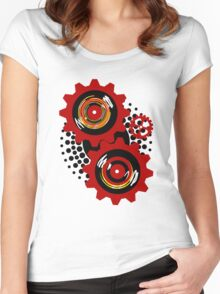 Red Gears Women's Fitted Scoop T-Shirt