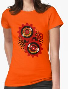 Red Gears Womens Fitted T-Shirt