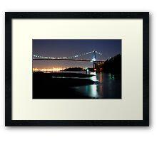 Lions Gate Bridge Framed Print