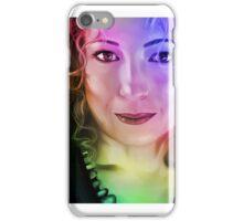 Alex Kingston Multicolour iPhone Case/Skin