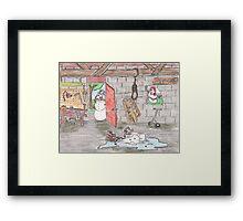 Snowman Suicide Framed Print