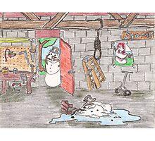 Snowman Suicide Photographic Print