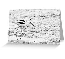 a walk in the mud Greeting Card