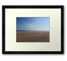 Desolate Sandy Beach  Framed Print
