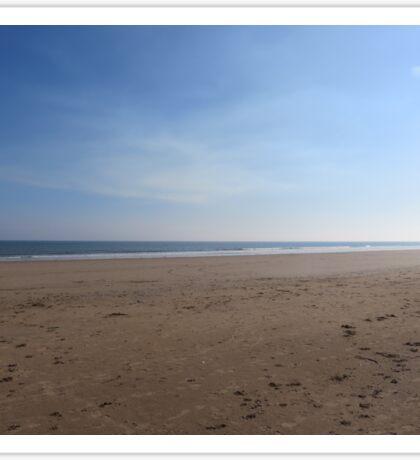 Desolate Sandy Beach  Sticker
