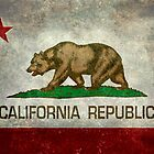 California Republic state flag - Vintage retro version by Bruce Stanfield